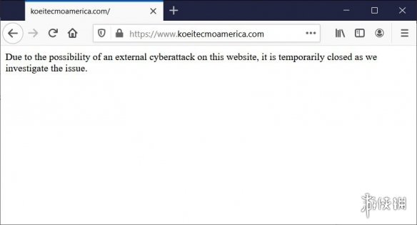 光荣特库摩服务器被黑!内部数据被以数千美元兜售