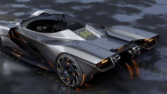 艺术家分享设计《赛博朋克2077》法拉利概念跑车