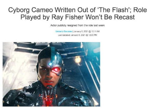 《闪电侠》中钢骨角色内容被删除 角色不会重新选角