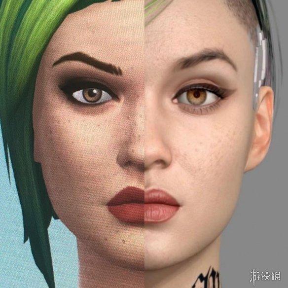 《模拟人生4》捏脸展示:《赛博朋克2077》女性角色!