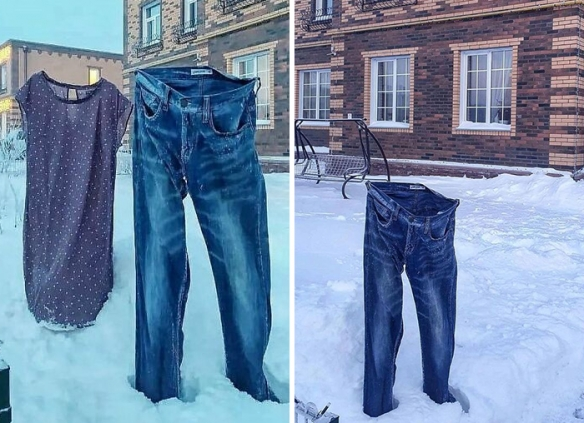 俄罗斯的冬天到底有多冷?面条和鸡蛋都冻在了空中!
