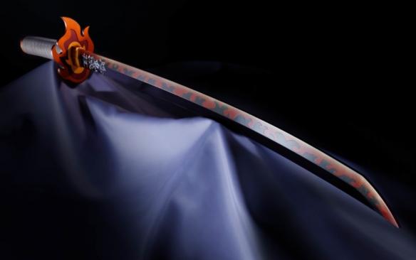 《鬼灭之刃》杏寿郎日轮刀模型 多种音效,魄力十足