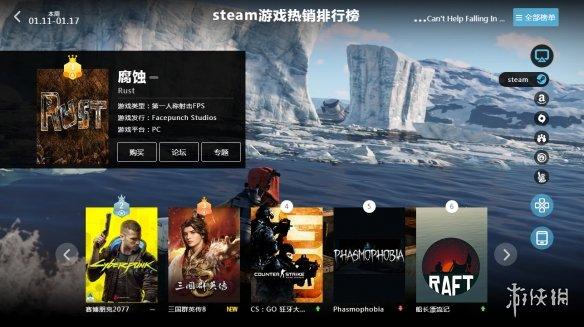 1.11-1.17全球游戏销量榜:腐蚀火爆 2077热度下降