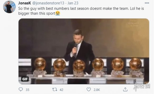 姆巴佩入选《FIFA21》年度阵容引争议 梅西应该入选