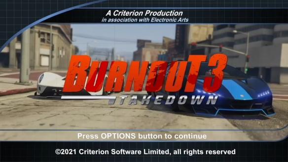 大神在《GTA5》中还原《火爆狂飙3》 重温经典赛车