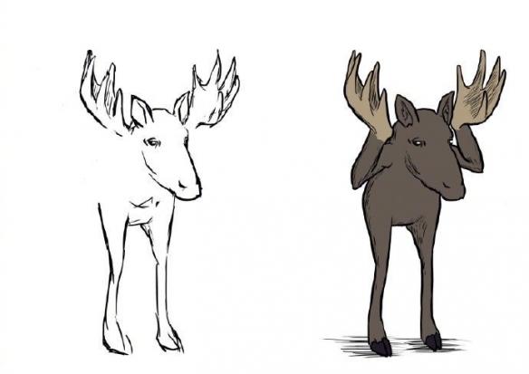 这些画一半懒得画的插图 加工后效果比原图还要魔性