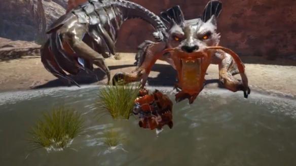 《怪猎:崛起》泥翁龙演示 擅长玩泥巴的深山怪物!