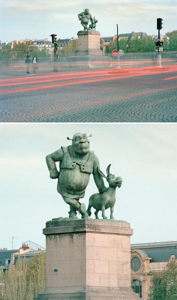 智爷和皮卡丘现身街头!如果巴黎的雕像变成电影角色