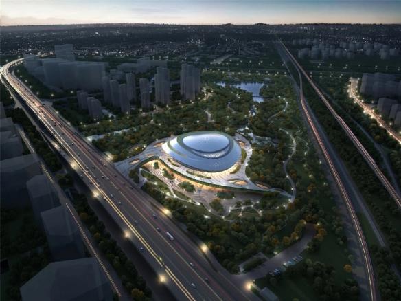 2022年亚运会电竞场馆公布!外观以星际漩涡为主题