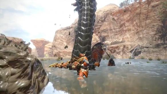 《怪猎:崛起》泥翁龙演示 对敌时玩得一手好泥巴!