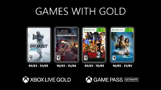 Xbox金会员3月会免游戏阵容公布 《合金弹头3》等