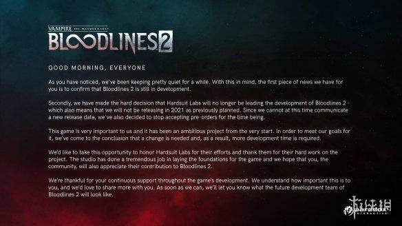 《吸血鬼:避世血族2》已关闭Steam、Epic等预购渠道