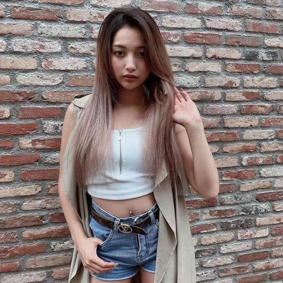 日本混血模特身材变大肚腩引争议! 辣妹大胆公开肥照