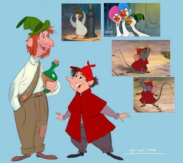 超萌动物们幻化人形!迪士尼动物拟人化插画欣赏