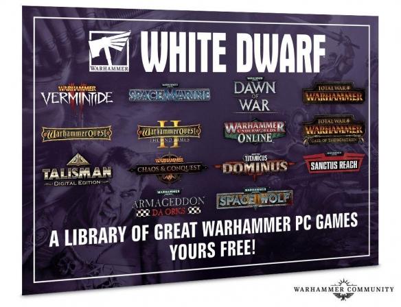 GW月刊《白矮星》下月随刊附赠送12款战锤游戏及DLC 含《战锤全战》