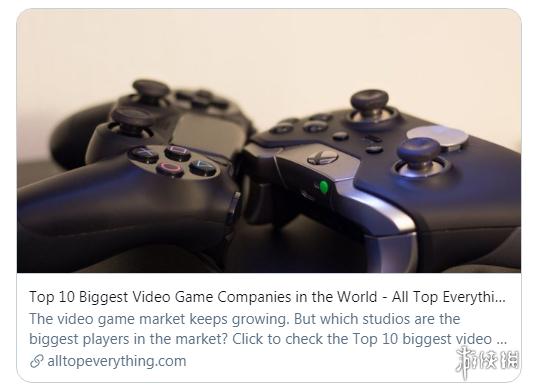 2021年全球最大游戏公司TOP10!索尼250亿美元营收力压腾讯夺冠