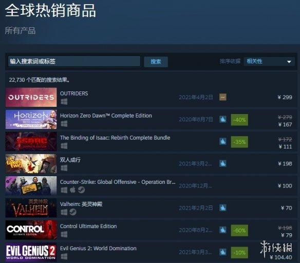 《先驱者》首发在线玩家超11万居全球热销商品首位!但好评率仅有57%