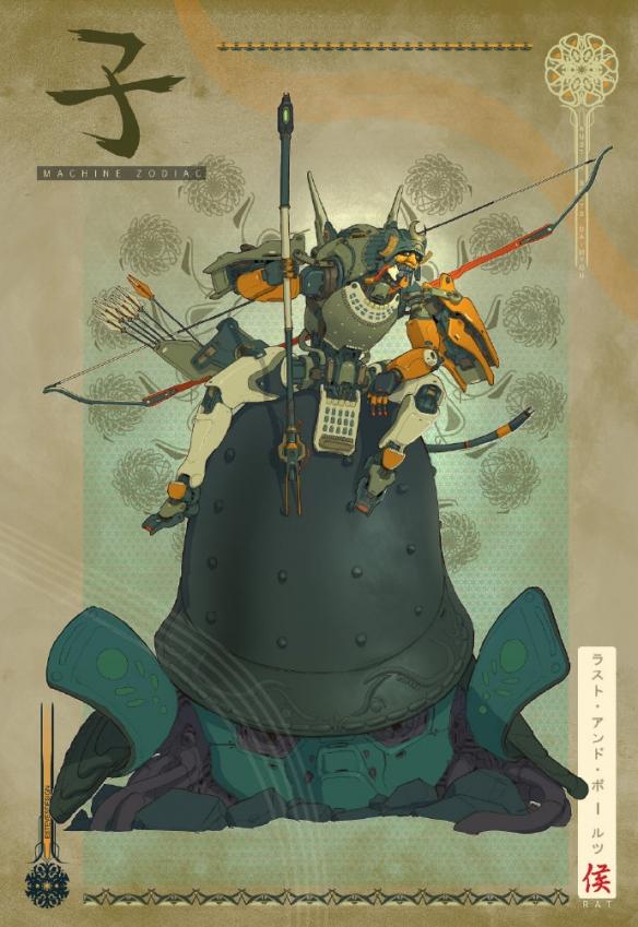 万代设计师十二生肖机甲概念原画:生肖文化与战斗机甲元素融合
