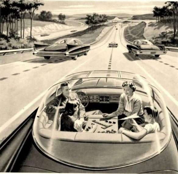 过去的人如何想象未来科技:未来人类太空生活景象!