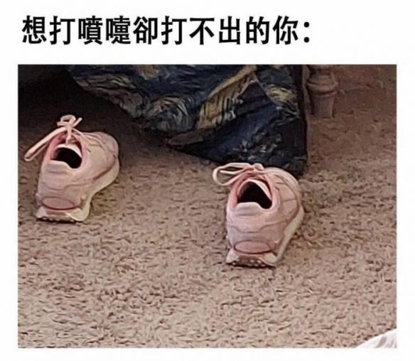 开口大笑的粉红球鞋让大神都嗨了!P在脸上毫不违和