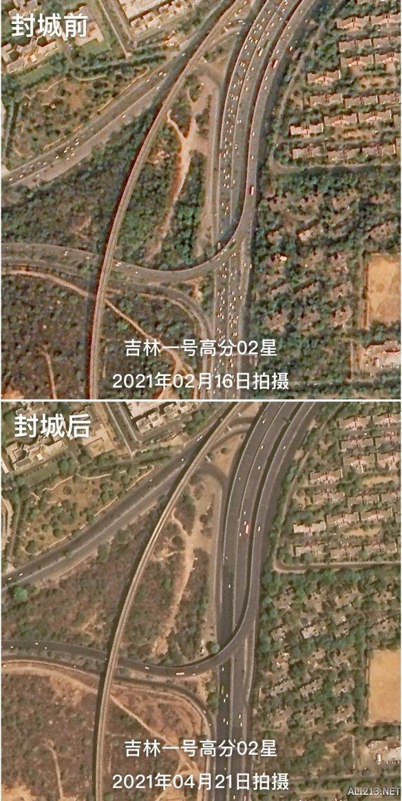 印度疫情恶化 我国卫星拍下封城前后公路车流量对比