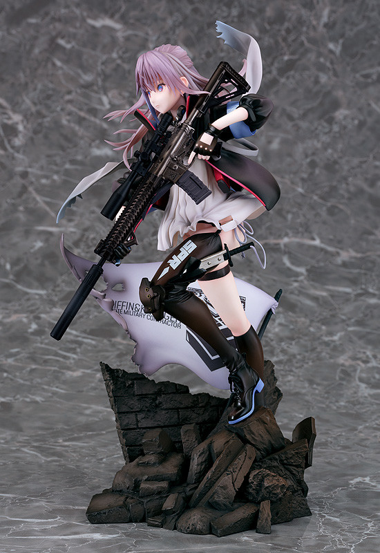 《少女前线》ST AR-15手办赏!超飒黑丝短裙美少女