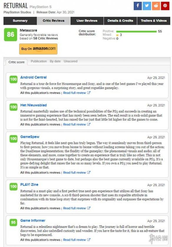 PS5独占射击游戏《死亡回归》媒体评分解禁!普遍好评