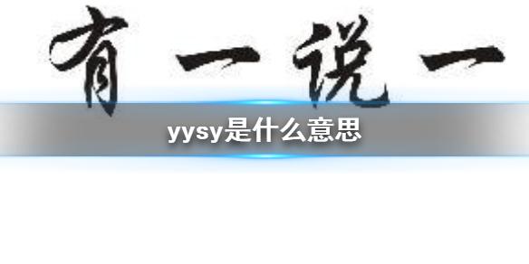 yysy是什么意思