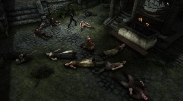 杀光《上古卷轴5》全部生物:一人独行天际省,杀光两千多位NPC及生物、怪物