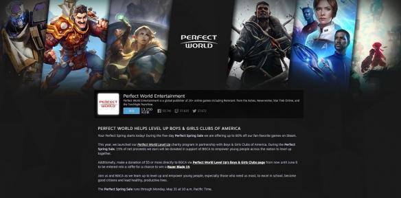 Steam发行商周末特惠截止到6月1日凌晨:完美世界经典游戏最高半价起!