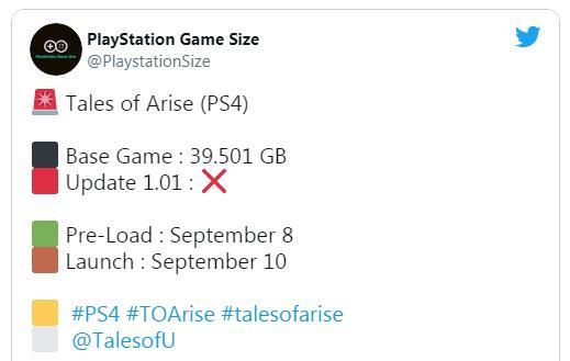 南梦宫JRPG大作《破晓传说》PS5/PS4版游戏容量曝光