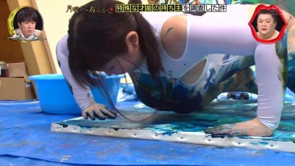 日本丰满画家Aoiuni用胸当画笔 希望名留青史!