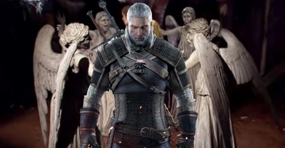 """教堂门口的塑像!玩家发现《巫师3》彩蛋致敬《神秘博士》""""哭泣天使"""""""
