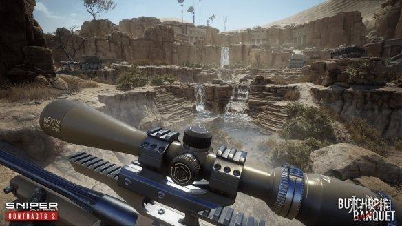 《狙击手:幽灵战士契约2》新图上线 主要由沙漠、绿洲、小瀑布等组成