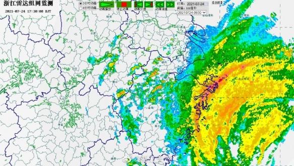 """台风""""烟花""""本体已上岸!登陆后在浙江停留30小时"""