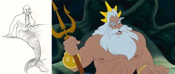25张动画电影角色最初设定手稿 迪士尼公主生动可爱