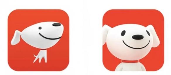 奇怪的狗子增加了!京东申请西装狗logo图形商标!