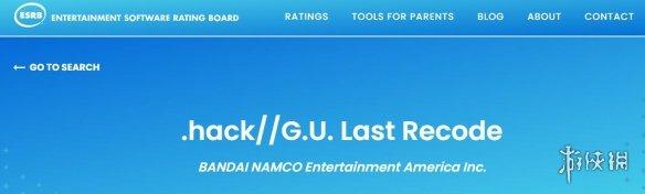 """《骇客时空-G U 最终编码》Switch版已评级 其NS版被评级为""""Teen""""级"""