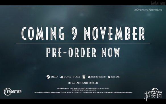 GC21:《侏罗纪世界:进化2》发布实机 11月9日发售