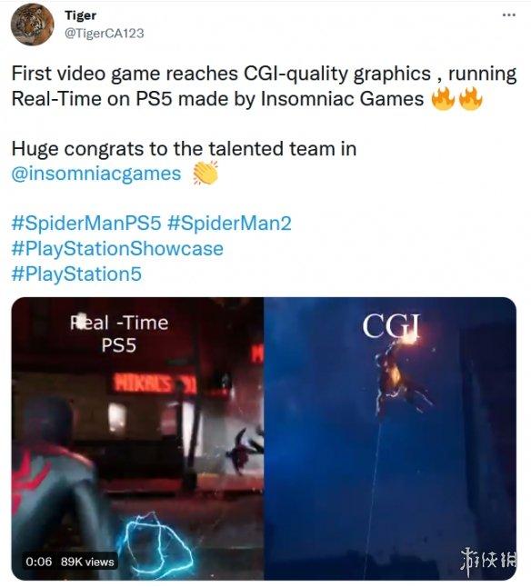 首席特效师证实《漫威蜘蛛侠2》预告片为PS5实时运行 首款达CGI质量游戏