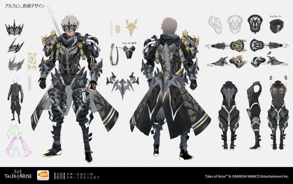 《破晓传说》DLC服装设计师分享设计图与上市插画 服饰配饰细节清晰可见