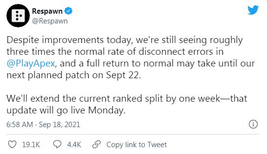 服务器崩溃地图消失 官方称将于9月22日发布游戏补丁
