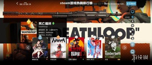 9.13-9.19全球游戏销量榜:《死亡循环》再次登上榜首