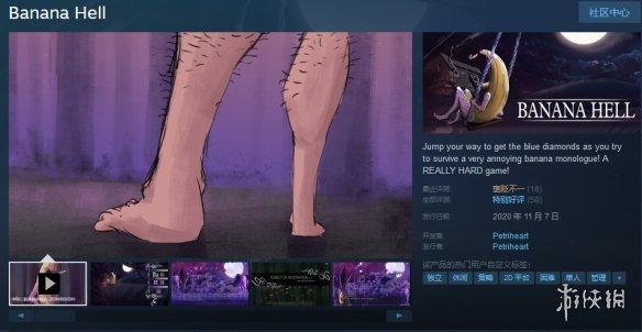 Steam喜加一:平台跳跃游戏《Banana Hell》免费领