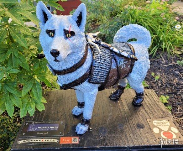 """粉丝打造《巫师3》""""白狗"""" 雕像 杰洛特:我拔下剑,你别跑"""