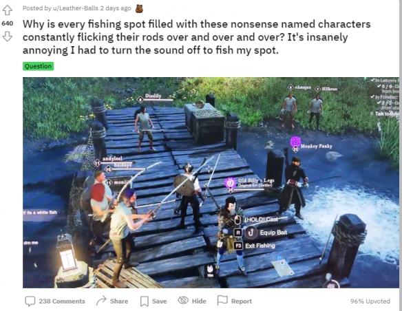 占据钓鱼点忍无可忍 《新世界》玩家勾野猪击杀脚本