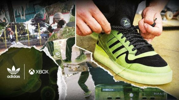 Xbox与阿迪达斯联名推出纪念款运动鞋庆祝20周年 主调颜色为黑色及绿色