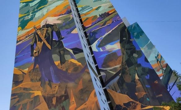 《巫师》主题巨幅壁画今天竣工 壁画面积约为2000平方米