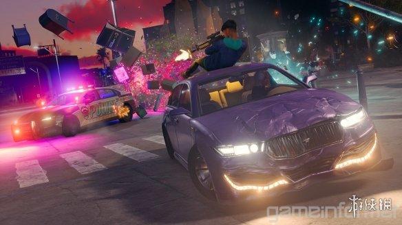 《黑道圣徒:重启版》新实机演示公开 可爬上车顶打开滑翔翼