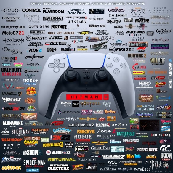 超180款游戏已支持PS5手柄特色功能!手感真的很棒